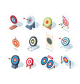 round goals business performance dartboard games vector image