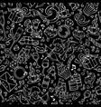 seamless chalk love pattern vector image vector image