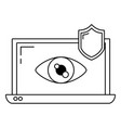 security system cartoon vector image vector image