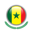 senegal flag button senegal flag icon of senegal vector image