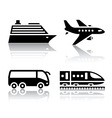 set of transport icons - tourist transport vector image