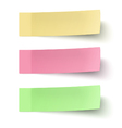Set of yellow red and green sticky notes vector image vector image