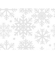 snowflakes seamless pattern for your design vector image