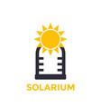 solarium icon isolated on white vector image vector image