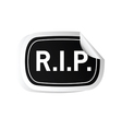 sticker rip black vector image vector image