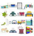 textiles industry factory and other web icon in vector image