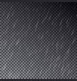 transparent rain drops isolated on dark bac vector image