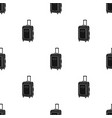 travel luggage icon in black style isolated on vector image vector image