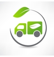 truck leaf icon vector image vector image