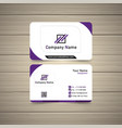 violet business card vector image vector image