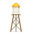 water tower flat design vector image