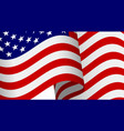 waving 3d american flag with clipping mask vector image