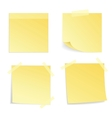 Yellow stick note isolated vector image vector image