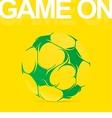 Artistic soccer ball graffiti drawing vector image
