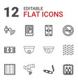 12 area icons vector image vector image