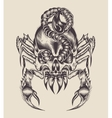 a monster scorpion vector image vector image