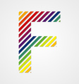 Alphabet Letter F vector image vector image