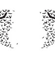 bats flying silhouettes background vector image vector image