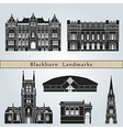 Blackburn landmarks and monuments vector image vector image