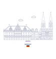 bremen city skyline vector image vector image
