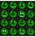 Bubbles smileys green vector image
