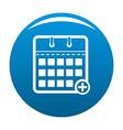 calendar deadline icon blue vector image