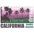 California Dream Palm Background vector image