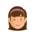 cartoon girl icon vector image vector image