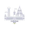 chennai city skyline vector image vector image