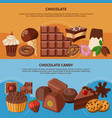 chocolate flat banners vector image vector image