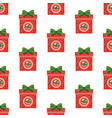 christmas gifts pattern vector image