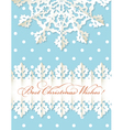 Christmas origami snowflake background vector image