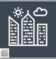 city building thin line icon vector image vector image