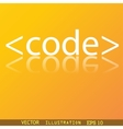 Code icon symbol Flat modern web design with vector image