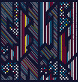 colored geometric seamless pattern vector image vector image