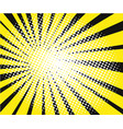 comic book explosion yellow rays on black vector image vector image