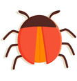 computer bug flat icon sign for mobile vector image