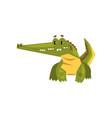 cute friendly crocodile funny predator cartoon vector image vector image