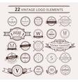 Design elements Vintage retro style Arrows vector image