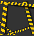 detailed of a industrial danger lines background vector image vector image