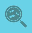drugstore and medicine search glyph color icon vector image vector image