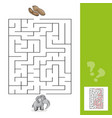 education maze or labyrinth leisure game with vector image vector image