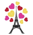 Eifel Tower Paris Bursting With St vector image