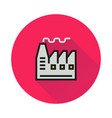 factory icon on round background vector image vector image