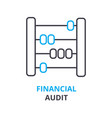 financial audit concept outline icon linear vector image vector image