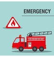 fire truck emergency vehicle vector image