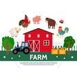 flat farming template vector image vector image