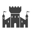 fortress black icon tower for strong vector image