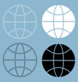 globe the black and white color icon vector image vector image