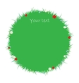 Green grass and flowers vector image